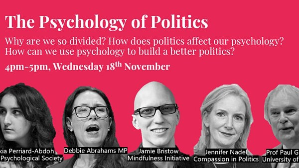 Psychology of politics event - 18 November 2020